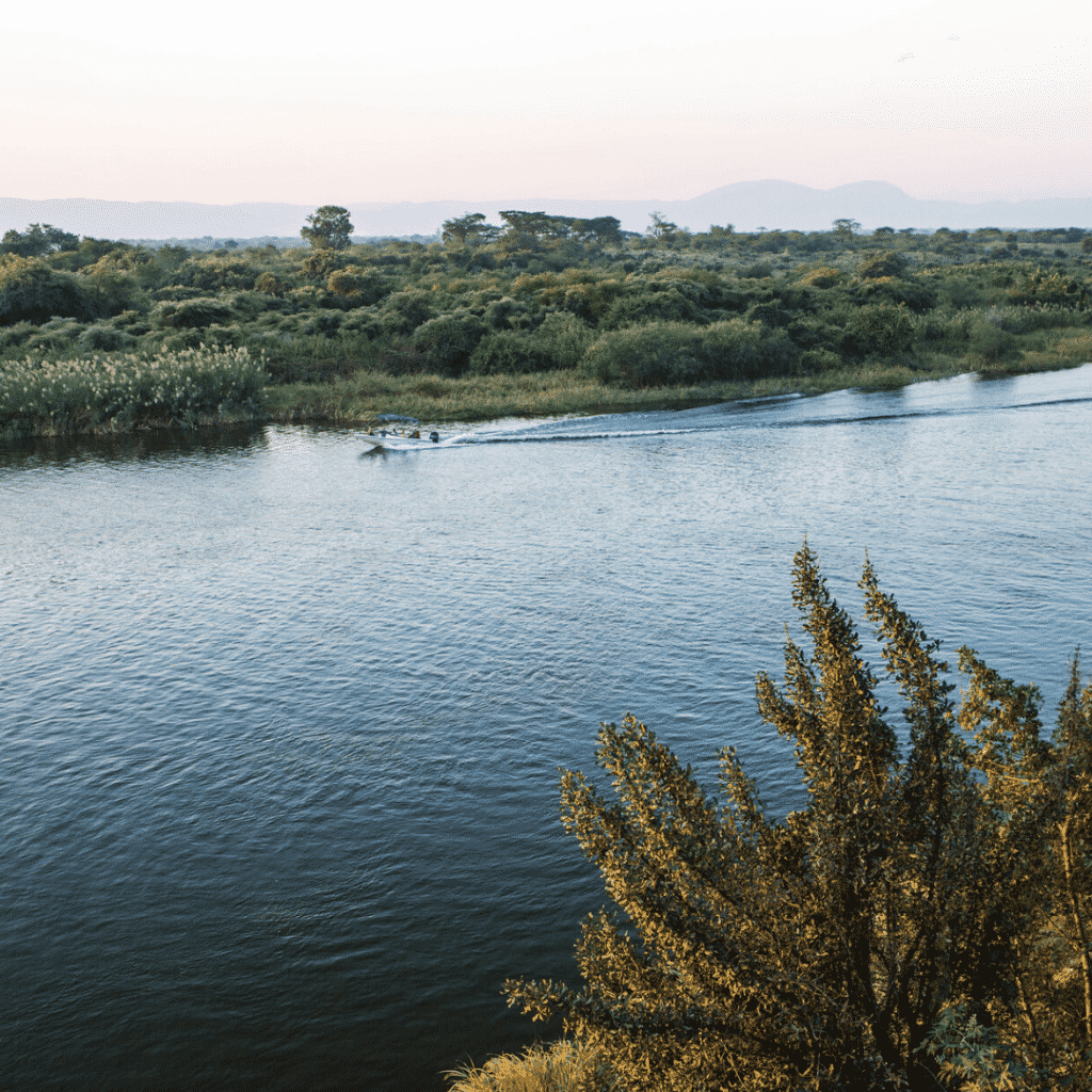 Kafue River in Zambia